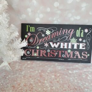 LAST ONE Holiday Wall Sign - White Christmas